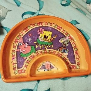 Spongebob Squarepants plastic Chip N Dip tray